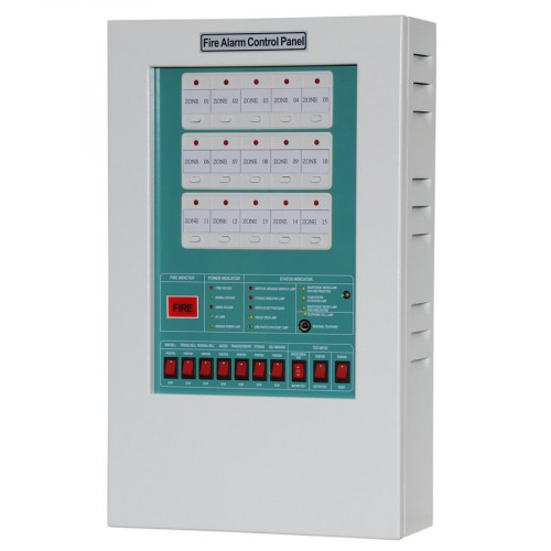 30-Zone Fire Alarm Control Panel ,Steel Enclosure รุ่น YF1-0030L ยี่ห้อ TYY (Taiwan)