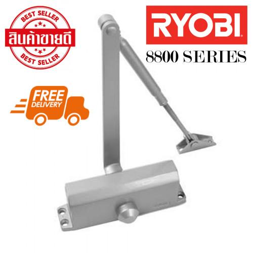โช๊คอัพประตู รับน้ำหนัก 45 Kg. ประตูขนาด 900 mm. ยี่ห้อ RYOBI รุ่น S-8802P แบบแขนขนานตั้งค้าง