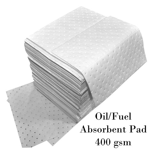 Oil/Fuel Absorbent Pad 400 gsm 480x430 mm. Dimple 100/Pack Model. STSPLWP203T100