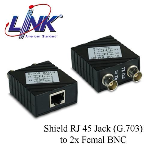 LINK Shield RJ 45 Jack (G.703) to 2x Femal BNC Model. UT-5012