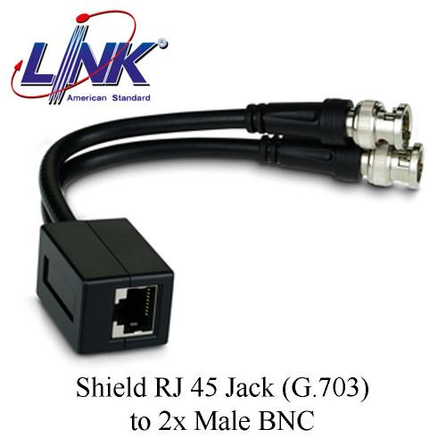 LINK Shield RJ 45 Jack (G.703) to 2x Male BNC Model. UT-5013