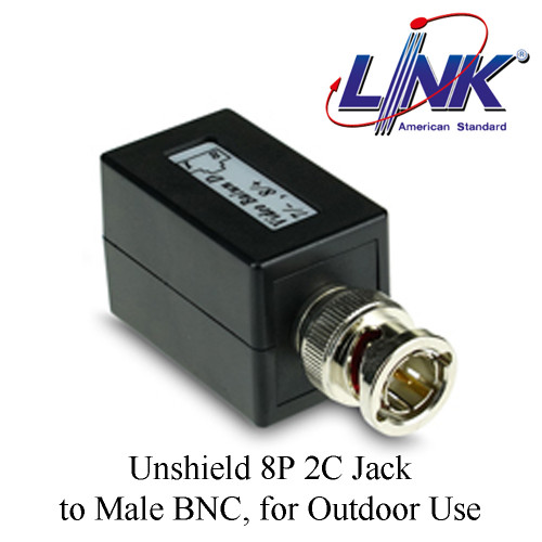 LINK Unshield 8P 2C Jack to Male BNC, for Outdoor Use Model. UT-5032