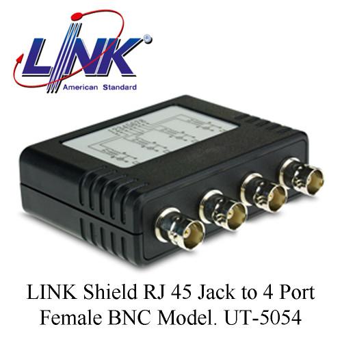 LINK Shield RJ 45 Jack to 4 Port Female BNC Model. UT-5054