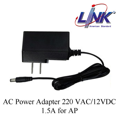 LINK AC Power Adapter 220 VAC/12VDC,1.5A for AP Model. PA-3198