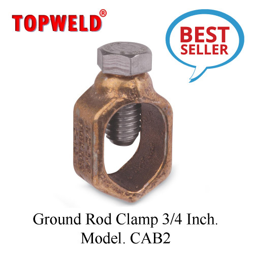 TOPWELD Ground Rod Clamp 3/4 Inch. Model. CAB2