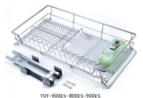 ตะแกรงอเนกประสงค์ สแตนเลส ใส่จาน ขนาด 60, 80, 90 ซม. มีถาดรองน้ำ (TOT-600ES-800ES-900ES) 1