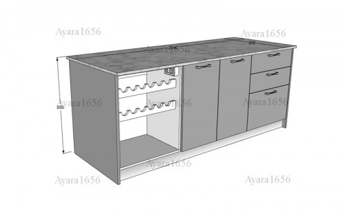 ชุดครัว Built-in โครง HMR หน้าบาน Hi Gloss สีเทาเงา + ขาวเงา 9