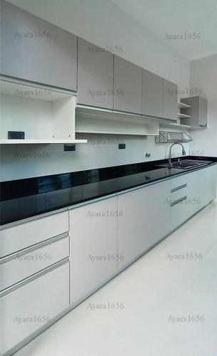 ชุดครัว Built-in โครงซีเมนต์บอร์ด หน้าบาน Melamine ES 4007-11