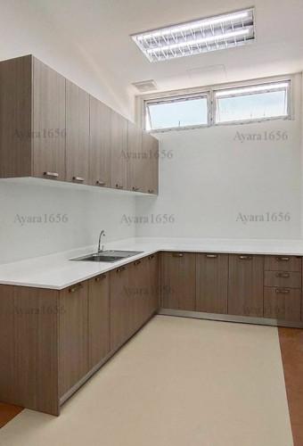 ชุดครัว Built-in โครงซีเมนต์บอร์ด หน้าบาน Melamine สี ES 5043-15