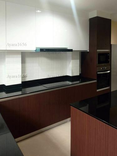 ชุดครัว Built-in โครงซีเมนต์บอร์ด หน้าบาน Melamine สี ES 5022-17 - ม.บ้านกลางกรุง 4