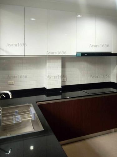 ชุดครัว Built-in โครงซีเมนต์บอร์ด หน้าบาน Melamine สี ES 5022-17 - ม.บ้านกลางกรุง 3