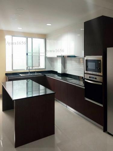 ชุดครัว Built-in โครงซีเมนต์บอร์ด หน้าบาน Melamine สี ES 5022-17 - ม.บ้านกลางกรุง