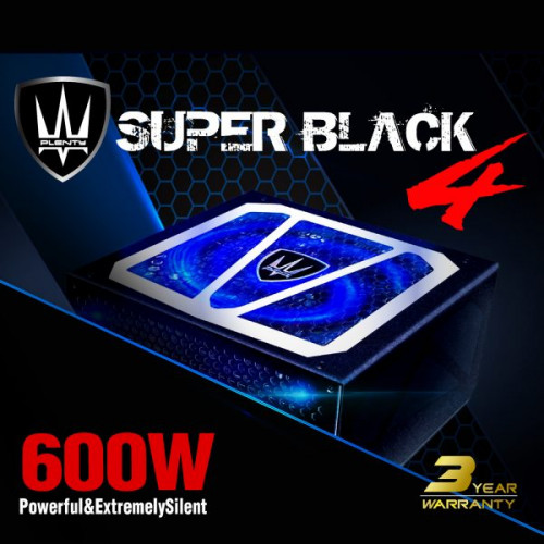 POWER ATX600W SUPER BLACK ประกัน 3 ปี