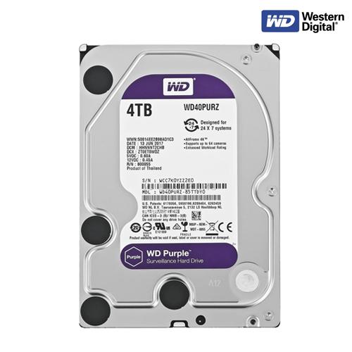 HDD WD 4TB PUPLE  WD40PURZ  W.3Y