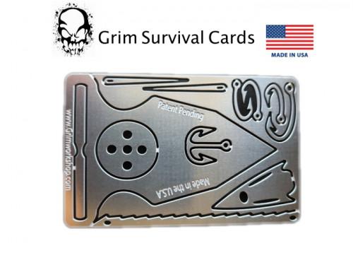 การ์ดเครื่องมือ Spear Self Defense Card Credit Card Tools GrimSurvival