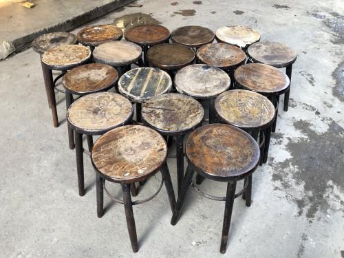 เก้าอี้กาแฟหัวโล้น ปี 1960 29.5*29.5*49 ซม. 5
