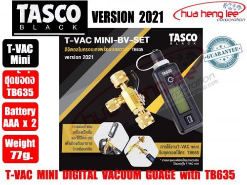 ไมครอนเกจ์ T-VAC MINI-EV-SET พร้อมบอลวาล์ว3ทาง TB635 ยี่ห้อ TASCO ฺBLACK (รุ่นปี 2021) MADE IN USA.
