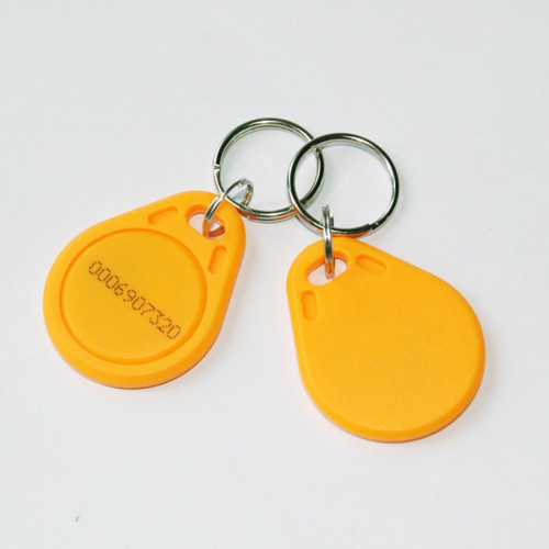 Key Tag รูปหยดน้ำ สีเหลือง