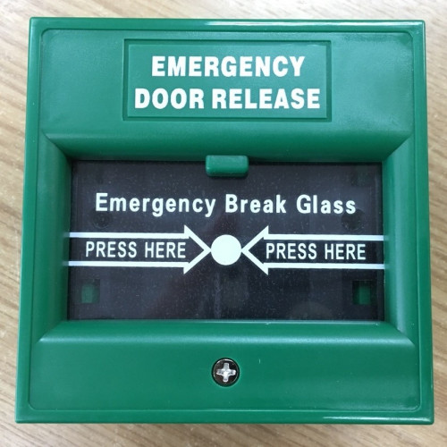 HIP CM-ABK900A Break Glass Emergency Button with Key(สีเขียว) ปุ่มกดมือประตูฉุกเฉิน