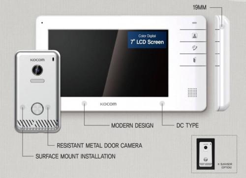 Kocom VDO Door Phone จอ 7 นิ้ว  KC-S81M + KVC-S701EB