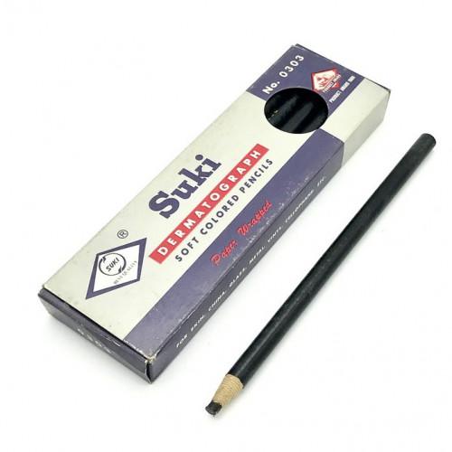 Suki ดินสอเขียนกระจกสีดำ No.0303 12 ด้าม / กล่อง Glass Pencil