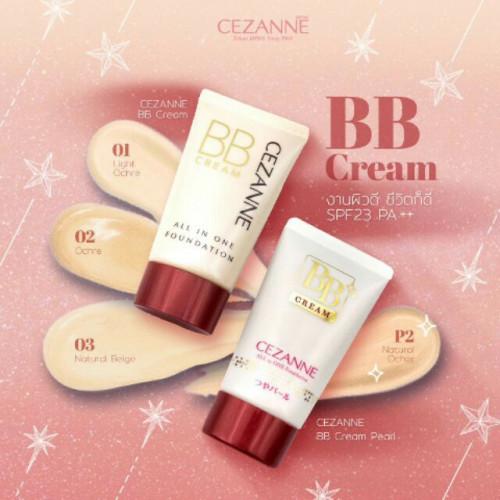 (แท้) CEZANNE BB Cream #02 ผิวปานกลาง เซซาเน่  รองพื้น บีบี สูตรเนื้อครีมบางเบา