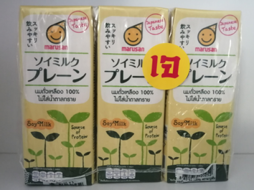 มารูซัน นมถั่วเหลือง100(ไม่มีน้ำตาลทราย) แพค 250ml