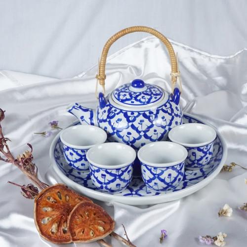 ชุดน้ำชากลมหูหวาย