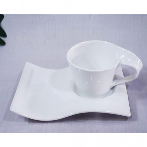 เซ็ตแก้วกาแฟสีขาว