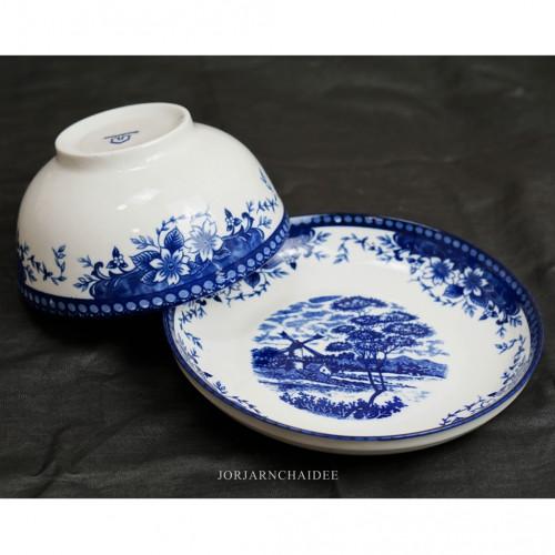 เซ็ตจานชามลายจีน