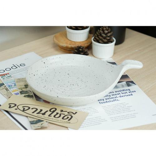 จานช้อน ลายไข่นก 8.5