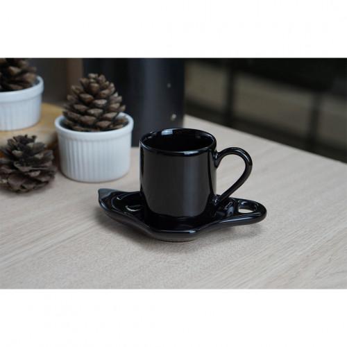 ชุดกาแฟเอสเพรสโซ่ สีดำเงา