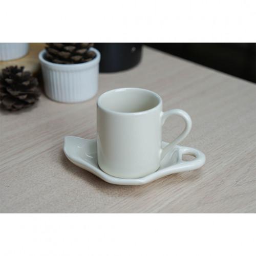 ชุดกาแฟเอสเพรสโซ่ สีขาว