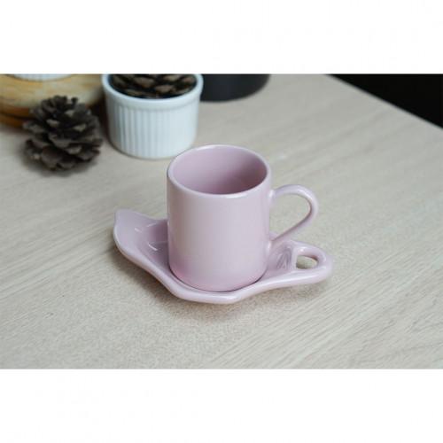 ชุดกาแฟเอสเพรสโซ่ สีชมพู