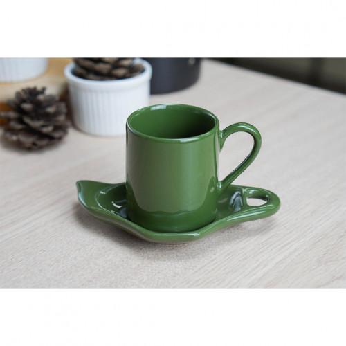 ชุดกาแฟเอสเพรสโซ่ สีเขียว