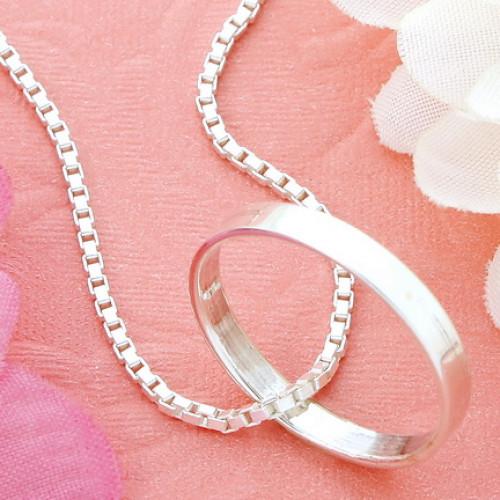 สร้อยคอลายอิตาลีห้อยจี้แหวน ยาว 18 นิ้ว