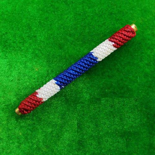 ตะกรุดโสฬสมงคล มีโค้ด จารมือ เต็มสูตร ถักเชือกลายสีธงชาติ รุ่นแรก พระอาจารย์แว่น วัดสะพานสูง 1