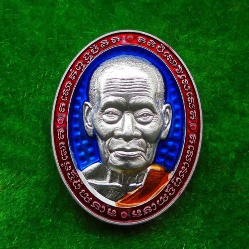 เหรียญหน้ายักษ์ มงคลเศรษฐีบารมี๙๙ หลวงพ่อพัฒน์ วัดห้วยด้วน เนื้อปีกเครื่องบินลงยา ปี 2563 เลข 966