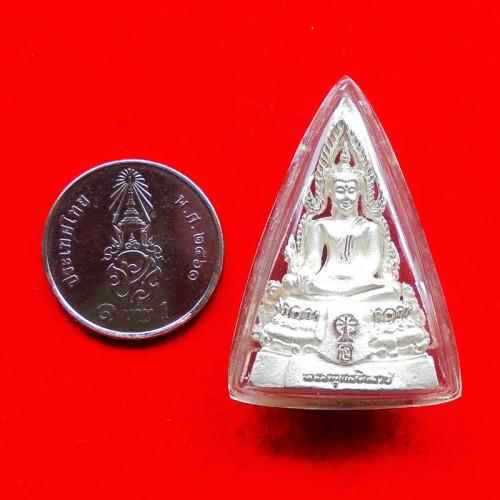 พระพุทธชินราช ลอยองค์ รุ่นเฉลิมพระเกียรติ สธ. เนื้อเงิน 99.99 ปี 2539 สวยน่าบูชามาก 2