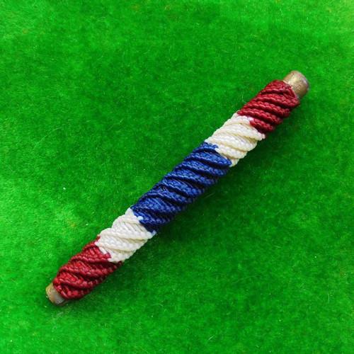ตะกรุดโสฬสมงคล มีโค้ด จารมือ เต็มสูตร แช่น้ำมนต์ ลายสีธงชาติ รุ่นแรก พระอาจารย์แว่น วัดสะพานสูง 1