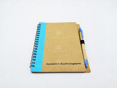 สมุดโน๊ตรีไซเคิล+ปากกา