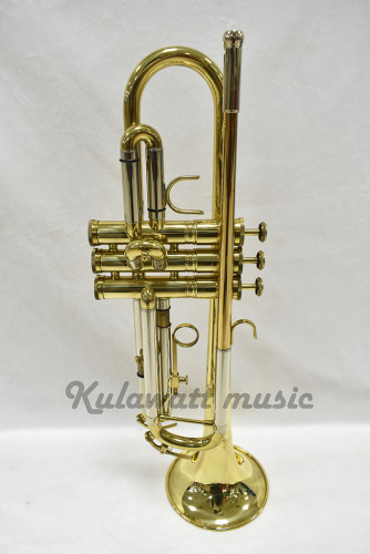 trumpet สีทอง ยี่ห้อ York  จากเยอรมัน ของใหม่แกะกล่อง เสียงดีจริง ๆ  รับประกันคุณภาพเสียง