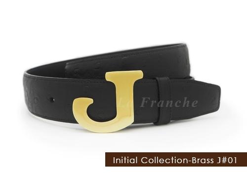 หัวเข็มขัดทองเหลือง อักษร J  (เฉพาะหัว)