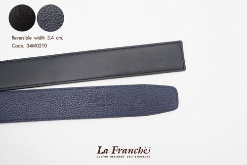 3.4 cm. Reversible Nappa Black