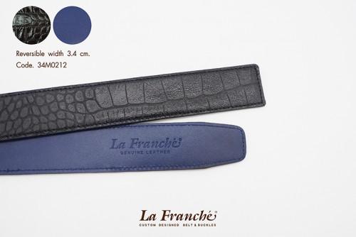 3.4 cm. Reversible Croco Black