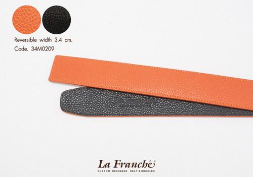 3.4 cm. Reversible Pebble Orange