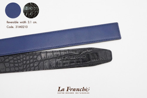 3.1 cm. Reversible Nappa Royal Blue