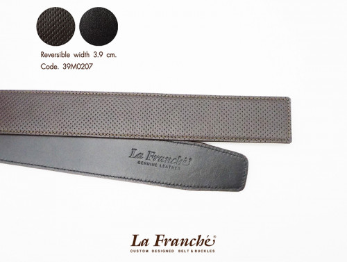 3.9 cm. Reversible Perforated Chocolate