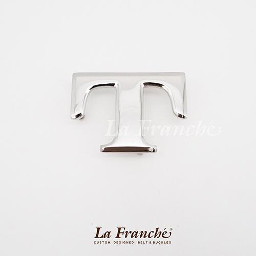 หัวเข็มขัดสแตนเลส อักษร T (เฉพาะหัว)
