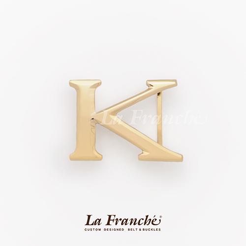 หัวเข็มขัดทองเหลือง อักษร K  (เฉพาะหัว)